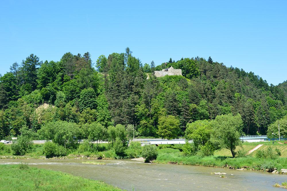 Muszyna - widok na zamek