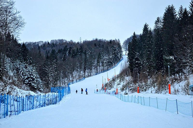 Dwie Doliny od strony Szczawnika - trasa narciarska