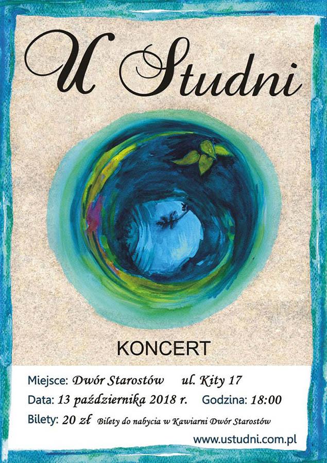 Koncert zespołu U Studni - plakat